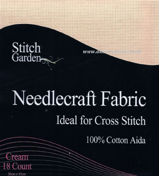 Stitch Garden Cream 18 Count Aida